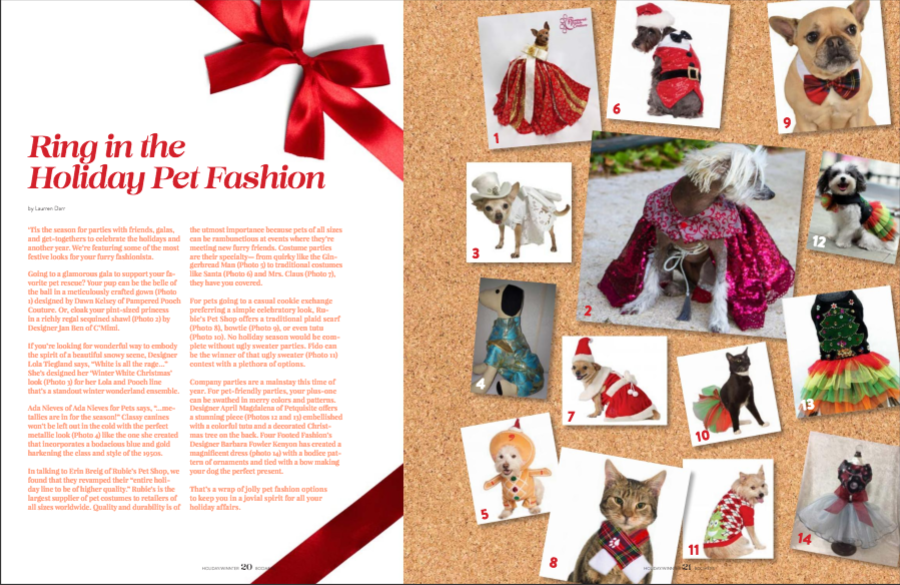 Boomer Pet Holiday Pet Fashion Article by Laurren Darr