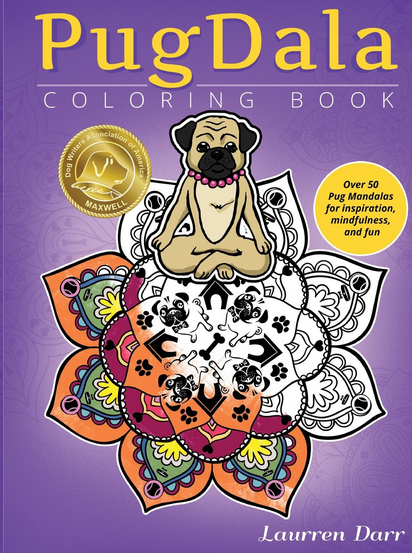PugDala Coloring Book Now Available Featuring Maxwell Medallion On Cover