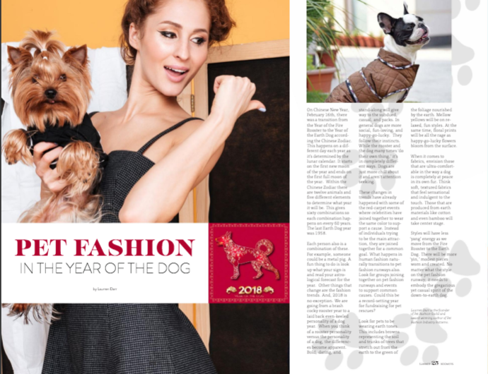 Pet Fashion in the Year of the Dog: Boomer Pet article