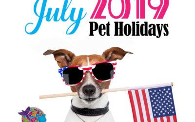 July 2019 Pet Holidays